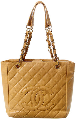 Chanel Beige Caviar Leather Petit Shopping Tote