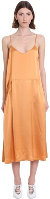 Mauro Grifoni Dress In Orange Viscose