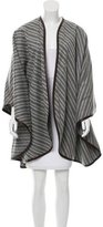 Loro Piana Leather-Trimmed Cashmere Poncho w/ Tags