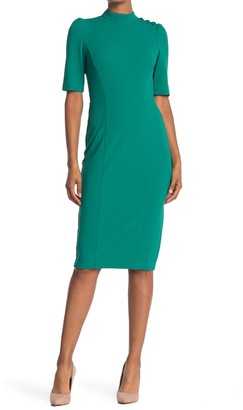 Donna Morgan Mock Neck Sheath Dress