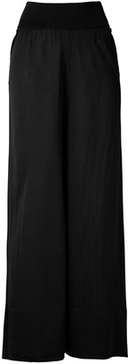 Egrey Knit Sheer Wide-Leg Trousers