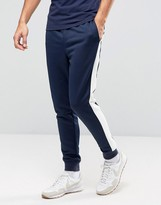 Tommy Hilfiger Tricot Track Pants Side Stripe in Navy