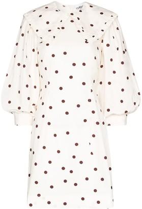Ganni Polka Dot Mini Dress