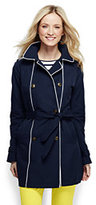 Lands' End Women's Petite Heritage Trench Coat-Navigator Blue 3 Pack