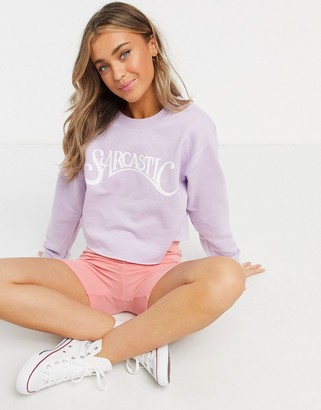 Skinnydip oversized sweatshirt with sarcastic print