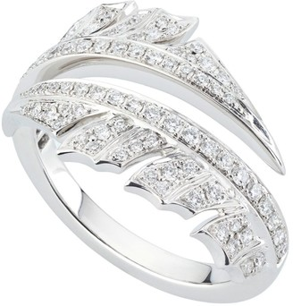Stephen Webster White Gold and Diamond Magnipheasant Split Ring