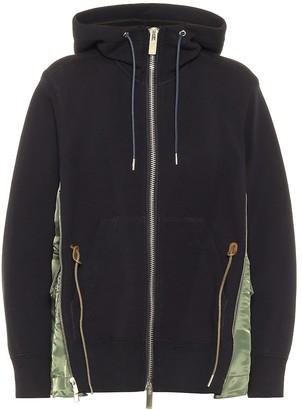 Sacai Cotton-blend hoodie
