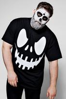 boohoo Big And Tall Halloween Scary Face T-Shirt