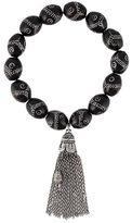 Loree Rodkin pavé diamond bead tassel bracelet