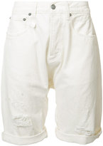 R 13 ripped shorts - men - Cotton/Spandex/Elastane - 30