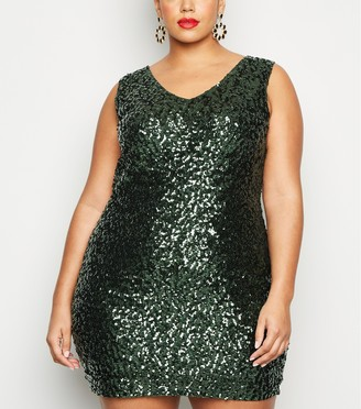 New Look Curves Sequin Bodycon Dress