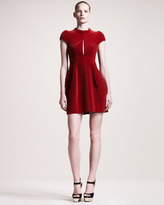 Velvet Cap-Sleeve Dress