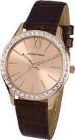 Jacques Lemans Rome Women's 37mm Calfskin Mineral Glass Crystals Watch 1-1841D