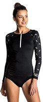 Roxy Women's Bliss Long Sleeve Half-Zip Swim Rashguard