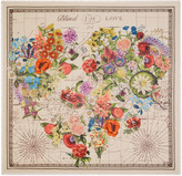 Gucci Floral heart print wool silk shawl