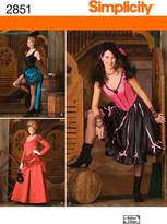 Simplicity Sewing Pattern 2851 Misses' Costumes