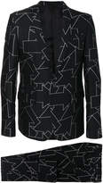 Les Hommes printed two-piece suit
