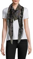 Alexander McQueen Wildflower Flight Silk & Modal Scarf