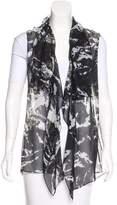 Balenciaga Printed Sheer Vest