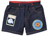Kenzo Dark Denim Shorts with Patches