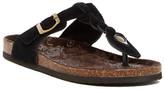 Muk Luks Suede Thong Sandal