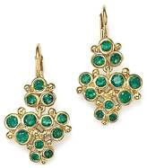 Temple St. Clair 18K Yellow Gold Emerald Trio Cluster Earrings