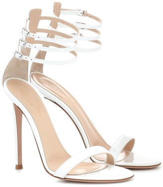 Gianvito Rossi Lacey 110 patent leather sandals
