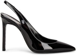 Saint Laurent Anja Slingback Heels in Noir | FWRD