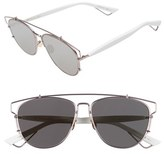 Christian Dior Women's Technologic 57Mm Brow Bar Sunglasses - Black