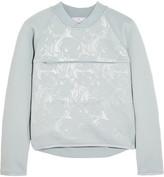 adidas by Stella McCartney Embossed stretch-scuba jersey sweatshirt
