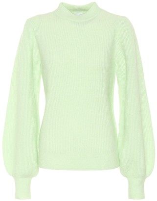 Ganni Puff-sleeve sweater