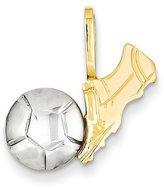 goldia 14k Two-tone Gold Soccer Charm