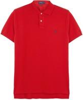 Polo Ralph Lauren Blue Custom Piqué Cotton Polo Shirt