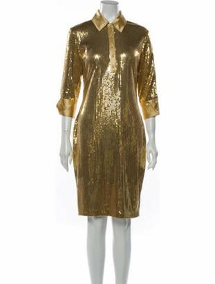 Naeem Khan Knee-Length Dress Gold