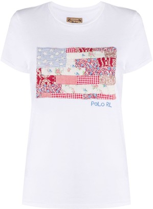 Polo Ralph Lauren patchwork American flag T-shirt