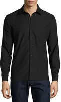 Ovadia & Sons Woven Oxford Shirt, Black