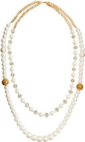 Fragments for Neiman Marcus Double-Row Pearly Crystal Beaded Necklace