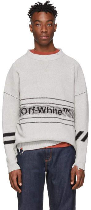 Off-White Grey Logo Sweater