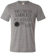 Go All Out Screenprinting Grey Adult When The DM Smiles It's Already Too Late Funny Triblend T-Shirt