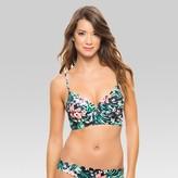Vanilla Beach Women's Floral Scalloped Underwire Longline Bikini Top