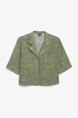 Monki Utility cropped shirt
