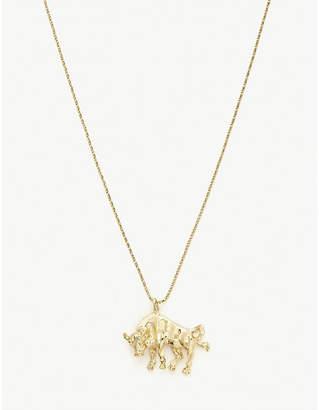 Vanessa Mooney Taurus 24ct gold-plated necklace
