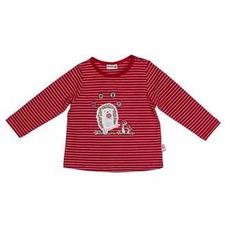 Salt&Pepper Salt and Pepper Baby Girls' Woodland Igel Pailletten Longsleeve T-Shirt