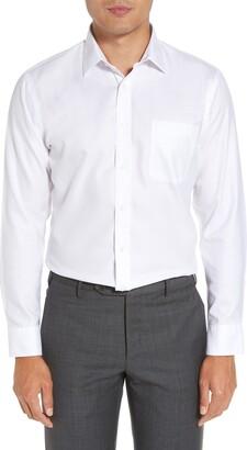 Nordstrom Mens Shop Smartcare(TM) Trim Fit Herringbone Dress Shirt