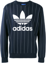 adidas pinstripe logo sweatshirt - men - Cotton/Polyester - S