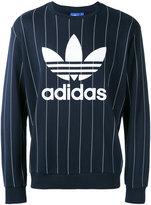 adidas pinstripe logo sweatshirt