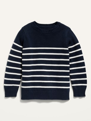 Old Navy Striped Crew-Neck Pullover Sweater for Toddler Boys