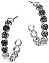 John Hardy Dot Black Sapphire & Sterling Silver Hoop Earrings/1.05