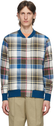 Noah NYC Multicolor Plaid Bomber Jacket