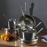 Crate & Barrel All-Clad ® Stainless 10-Piece Cookware Set with Bonus